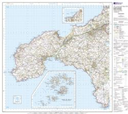 Ordnance Survey Landranger FLAT Wall maps - 1:50,000